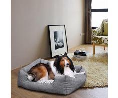Songmics Panier pour lit chien Dog Bed Coussin Matelas 60 x 50 x 22 cm PGW22G