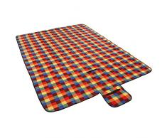 Jago - Couverture de pique-nique - Multicolore - 195 x 150 cm - polaire et plastique - COULEURS AU CHOIX