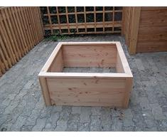 Bac Potager carré H.45cm en Bois 100x100cm– Nouvelle Gamme, Montage par vis