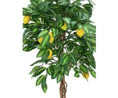 Arbre artificiel, Citronnier, tronc naturel, 1000 feuilles, 150 cm - petit arbuste fruitier / fruits artificiels - artplants
