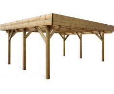 Carport EVOLUTION 2 en bois autoportant