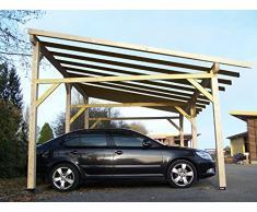 Habrita - HABRITA - Carport double monopente avec préparation pour couverture légère