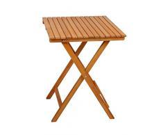 Spetebo Table de balcon en bois dacacia 72 x 55 x 55 cm