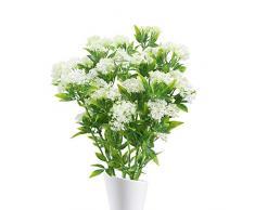 NAHUAA 4pcs Fleurs Artificielles de Jasmin Artificiel Blanc Plante Artificielle Bouquet Fausses Branches Plantes pour Décor Jardin Maison Intérieur Extérieur