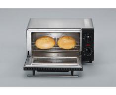 SEVERIN Mini-Four, Inclus : Grille et Plaque de Four, 800 W, 9 L, TO 2052, Argent/Noir
