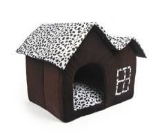 Pet Supplies Niche double haut de gamme pour chien Marron 55 x 40 x 42 cm