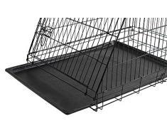 KERBL 81367 Cage de Transport avec 3 Portes pour Chien Noir 76 x 54 x 64 cm