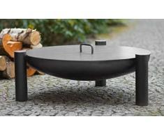 Blackorange Bowl Brasero Ø 80 cm avec Couvercle Assorti Ø 80,5 cm
