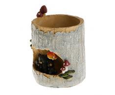 VORCOOL Pot de fleur mignon Black Bear fleur Sedum Succulent Pot planteur Bonsai creux boîte lit bureau maison jardin Pot Decor