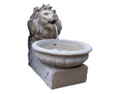 Ubbink Fontaine – Bâle – Jeu deau Tête de Lion (Sable Effet Pierre) en polyrésine avec LED