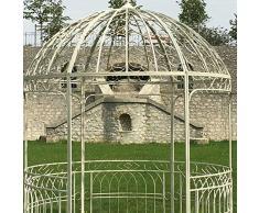 Provins Deco Grande Tonnelle Gloriette de Jardin Fer Blanche ø250 cm H 290cm