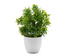 OFFIDIX Plantes Artificielles en Plastique Mini Plantes Deucalyptus pour La Maison De Bureau Décoration Faux Plante Faux Plantes en Plastique avec Vase Blanc