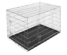 Leopet - Cage de Transport Pliable pour Chien avec 2 Portes et 2 Verrous (Taille au Choix)