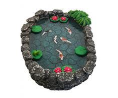 Mini bassin Koï – un mini bassin à carpes Koï pour votre Jardin Féérique – un accessoire pour votre Jardin Enchanté par GlitZGlam