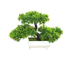180 mm Bonsai Tree in Pot Artificial Plant Decoration for Office/Home Green