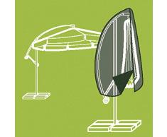 Siena Garden Housses et housse pour parasol avec tige en tissu polyester Oxford, 300 cm, anthracite/gris