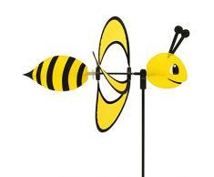 CIM Girouette - Little Magic Bee - résiste aux UV et aux intempéries - Ø28cm, Motif: 35x13cm, Hauteur Totale : 85cm - INCL. Tige en Fibre de Verre