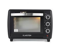 Klarstein Omnichef 30 2G Mini-four (30 L, 1500W, régulateur température: max. 230 °C, 5 fonctions de cuisson dont rôtissoire, plaque et grille incluses) - noir