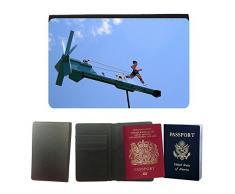 hello-mobile PU Supporto Di Cuoio Del Passaporto Con Slot Per Schede // M00136478 Direction Whirligig Girouette Figure // Universal passport leather cover