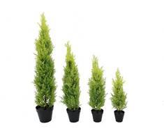Arbuste artificiel, Cyprès dans un pot décoratif, 60 cm - résistant aux intempéries - Cèdre artificiel / Plante verte artificielle - artplants