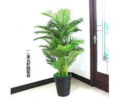 GETSO Plantes artificielles Grande Verdure 150cm bonsaï Arbre Pteris Plantes Faux Fleurs en Plastique Arbres artificiels pour la décoration intérieure: 1.6m