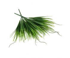Lot de 2pcs Feuille Plante Bush Herbe Artificielle Décoration de La Maison Vert