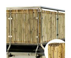 Sol Royal Canisse en Bambou SolVision B38 Fence 100x250cm haie Brise-Vue Brande Jardin terrasse Balcon - Protection Regards Vent Soleil