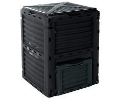 Composteur, poubelle à compost de jardin, verte, 300 l, 83 x 61 x 61 cm