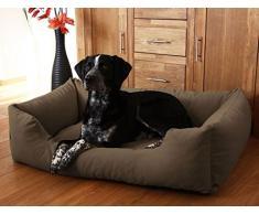 Knuffelwuff panier chien, lit pour chien, coussin, corbeille pour chien Dreamline, marron XXL 120 x 85cm
