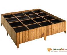 Carré de potager en bois teinté Potimarron 120