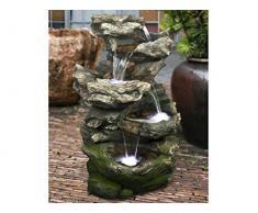 Ubbink - Fontaine de jardin Norfolk rochers avec cascade et éclairage LED