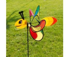 Girouette - Magic BUTTERFLY - résiste aux UV et aux intempéries - Ø38cm, Motif : 46x18cm, Hauteur totale : 103cm - incl. Tige en fibre de verre