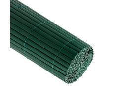 JAROLIFT Canisse en PVC 90 x 500cm, verte compris 50 attaches-câble, verte