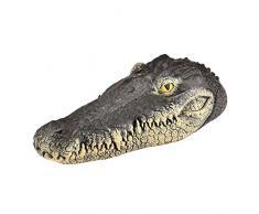 Alligator Head leurre et étang Flottant 13inches géant réaliste Look Flottant leurre Alligator Fun Eau extérieure Floating Head Crocodile Art Decor Drives Canards pour Piscine, étang et Jardin