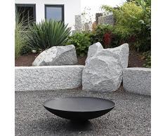 Brasero MIAMI fonte, foyer pour l'extérieur: terrasse & jardin, coupe de design ronde avec un foot, diamètre: 60 cm ou 78 cm, taille: 60x60x20 cm ou 78x78x26 cm, couleur: noir