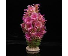 SODIAL (R)Plante Artificielle Aquatique en Plastique Violet-vert Decoration Aquarium
