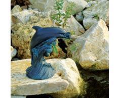 Figurine de bassin en polyrésine Gargouille Dauphin