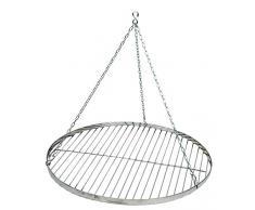 Best Sport Barbecue suspendu grille ronde avec chaîne Diamètre 50 cm