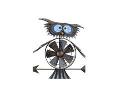 Pro Garden Girouette avec mini éolienne Motif chouette 150 cm