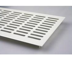 Grille de ventilation en aluminium plaque d'âme Ventilation 130 mm x 300 mm en diverses couleurs - Blanc Enduit de poudre