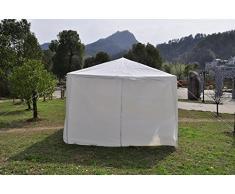 Qisan Canopée Tente Carport Gazebos Party Tente 10 x 20 Pieds Carport Domaine Avec Des Parois Latérales, (Blanc)