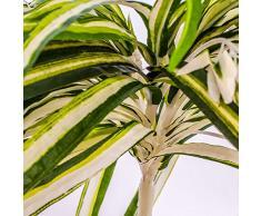 Chlorophytum BASIC artificiel sur piquet, vert-blanc, 50 cm, Ø 40 cm - Plante verte artificielle / Plante artificielle - artplants