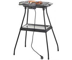 Rosenstein & Söhne Barbecue et Gril de Table électrique avec Plateau Amovible, 2000 W