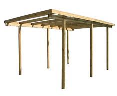 Pergola carport Tonnelle bois imprégné 520 x 310 x 200h