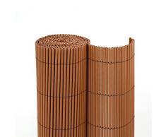 jarolift Canisse «ECO Wicker» | Brise Vue pour Jardin et Balcon 90 x 300cm | Marron