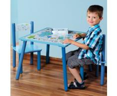 KESPER 17721 Dino Table dEnfant avec 2 Chaises Bois Multicolore 30 x 30 x 15 cm