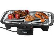 Lonestar Barbecue électrique Noir 37 x 28 x 7 cm (Hauteur x Largeur x Profondeur)
