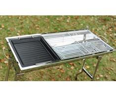 Poêle BBQ Grill cuisson plateau d'accessoires barbecue charbon de bois grilloir