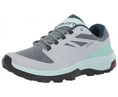 SALOMON Shoes Outline GTX, Chaussures de randonnée Femme, Gris (Bleu Perle/Matin glacé/étang réfléchissant), 42 EU