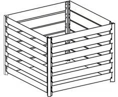 FARMERS FUN Composteur en métal galvanisé à Chaud Extensible grâce au système d'emboîtement Komposter 700 L argenté